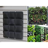 12 Pocket Outdoor Hanging Vertical Planter made from 100% Recycled PET Plastic Bottles