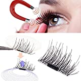 #6: False Magnetic Eyelashes by GARYOB, 0.2mm Ultra-thin 3D Fiber for Natural Look, Cruelty Free, Reusable Perfect for Deep Set Eyes & Round Eyes, 1 Pair 4 Pieces