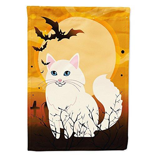 (Caroline's Treasures BB4438GF Garden Size Halloween Turkish Angora Cat Flag, Multicolor, Small)