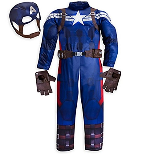 Disney Store Little Boys Deluxe Captain America Costume Sz 5/6