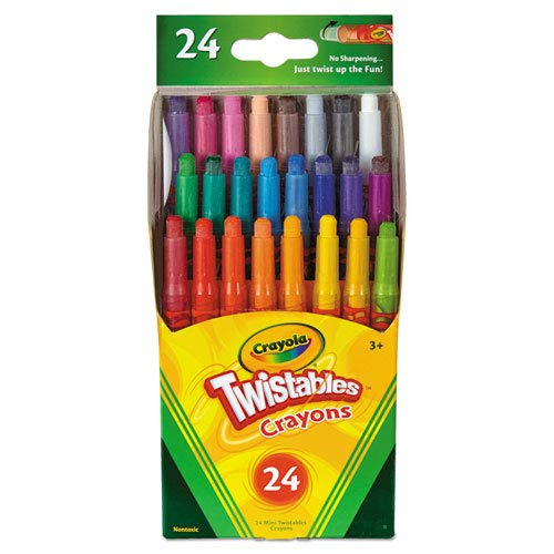 Twistables Mini Crayons, 24 Colors/Pack, Sold as 24 -