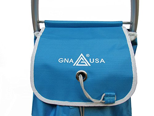 gna heavy duty aluminum shopping trolley blue buy   uae office products products