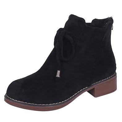 Bailarina Tacón Lazo Moda, Mocasines para Mujer, Las Mujeres más Populares Boots Botines Scrub Thick Heel Lady Plat Boots: Amazon.es: Zapatos y complementos