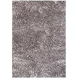 Alliyah Handmade Grey Art Silk Shag Rug (5  x 8 )