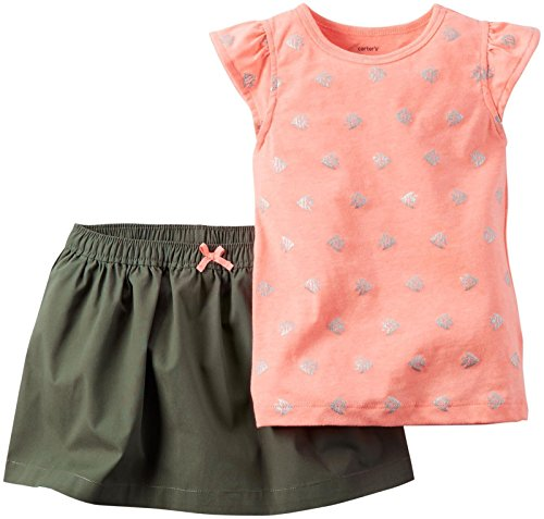 Carter's Baby Girls' 2 Pc Playwear Sets 239g144, Print, 18 - Skort Set Carters