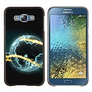 TECHCASE---Cubierta de la caja de protección para la piel dura ** Samsung Galaxy E7 E700 ** --Espacio Planet Galaxy Estrellas 35