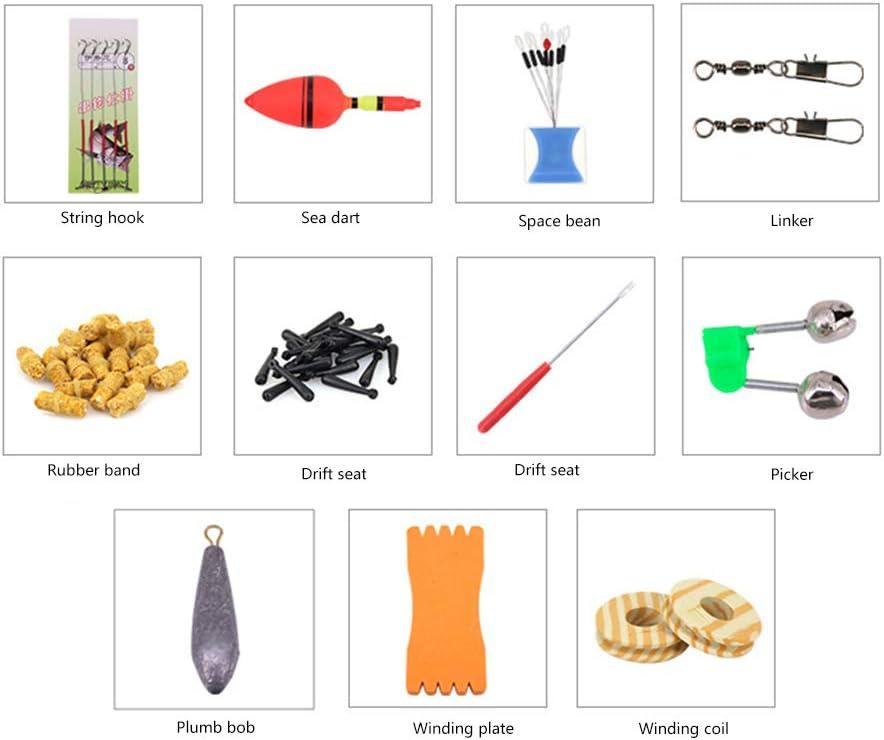 telesc/ópico Kit de ca/ña de pescar ultraligera con correa de goma para asiento de deriva