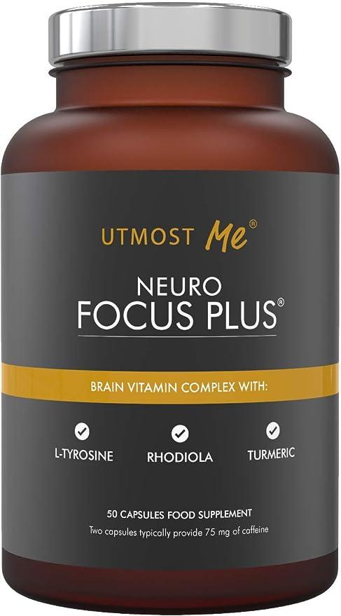 Cerebro Vitaminas, Suplemento Natural Nootrópico - Concentración Enfoque Memoria