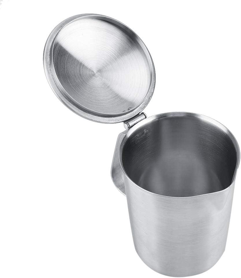 500ML Pichet Mousseur /à Lait Pot /à Lait en Inox Faire Mousser Caf/é Cappuccino la Mousse de Lait