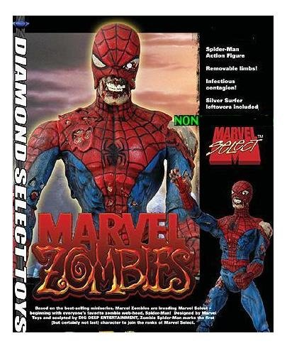 Marvel Select Zombie Spider-Man Figure - Marvel Zombies Comi
