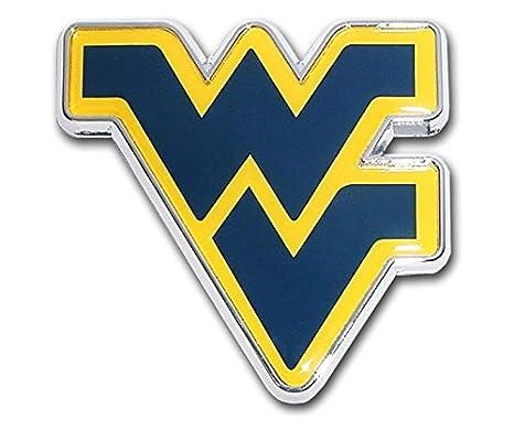 with colors West Virginia University METAL Auto Emblem