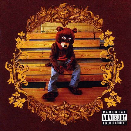 ALBUM COVER POSTER thick KANYE WEST: THE COLLEGE DROPOUT limited 2004 giclee RECORD LP REPRINT #'d/100!! 12x12
