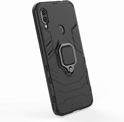 Oscuro Tapa Duro Pl/ástico Ougger Funda para Xiaomi Redmi Note 7 Carcasa Multifuncional Tapa Armadura Protector Absorci/ón de Impacto Soporte de v/ídeo Suave TPU Silicona 2in1 Carcasa Redmi Note 7