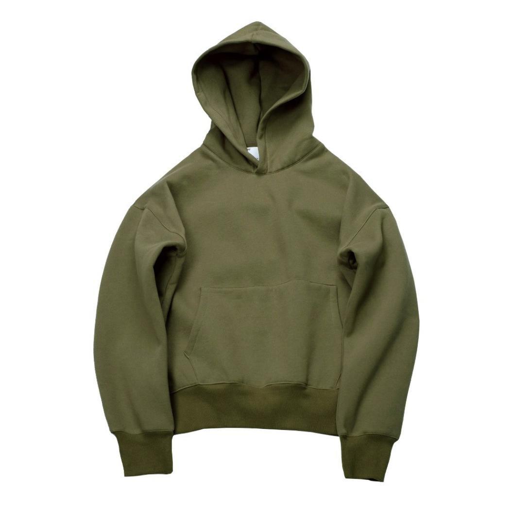 challyhopeユニセックスゆったりフリース暖かい長袖ソリッドプルオーバーフード付きスウェットシャツ S グリーン CH-PC-178300082 B075KJ2TQ2 Small|グリーン グリーン Small
