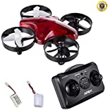 Mini Drone for Kids, 2.4GHz 6-Axis Mini Quadcopter Drone for Kids, Nano Drones for Kids with Built-in Gyroscope, Sobest GD-65A, Red Clear