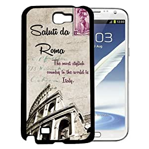 Colosseum Amphitheatre Rome, Italy Postcard Hard Snap On cell Phone Case Cover Samsung Galaxy Note II 2 N7100