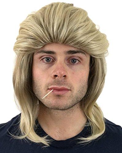 [Hilarious Flowtop Mullet Wig: Hillbilly Redneck Costume, Halloween 80s Wig, Men's Women's or Kid's Mullet Wig (Dirty Blonde)] (Redneck Woman Halloween Costume)