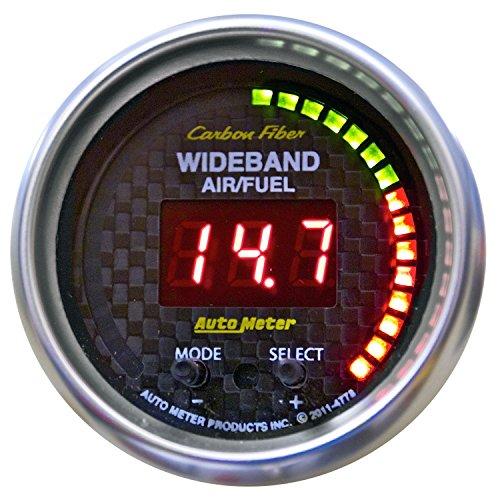 Carbon Fiber Fuel Gauge (Auto Meter 4778 Carbon Fiber PRO Wideband Air Fuel Ratio)