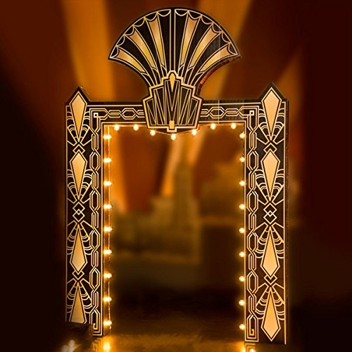 Fancy Fan Flair Art Deco Arch Kit With Lights - 10' 4'' High x 7' 1'' Wide x 15'' Deep