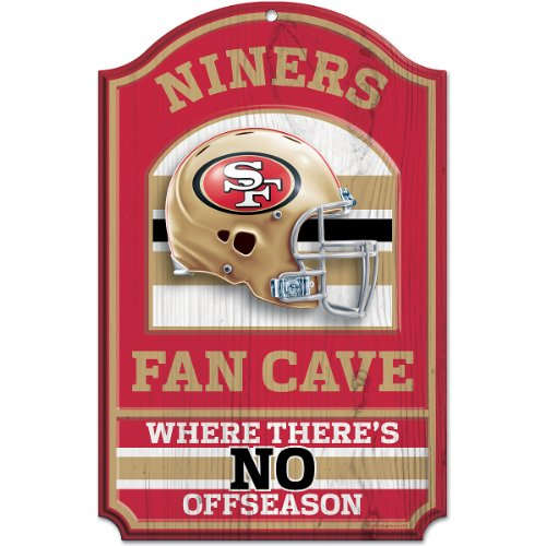 Fan 49ers Nfl San Francisco (NFL San Francisco 49ers Fan Cave Wood Sign, 11