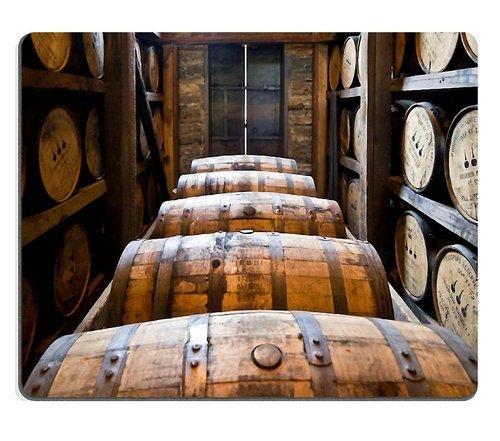 Mousepad Distillery Barrels Wooden Kegs Natural Rubber Material