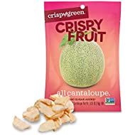 Crispy Green Freeze-Dried Fruit, Single-Serve, Cantaloupe, 0.36 Ounce (Pack of 12) | Non-GMO |Gluten Free |No Sugar Added