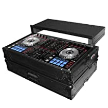 ProX XS-DDJSX-WLTBL All Black Pioneer DDJ-SX Hard Case W/ Sliding Laptop Shelf and Industrial strength rubber feet and latches that can be padlocked
