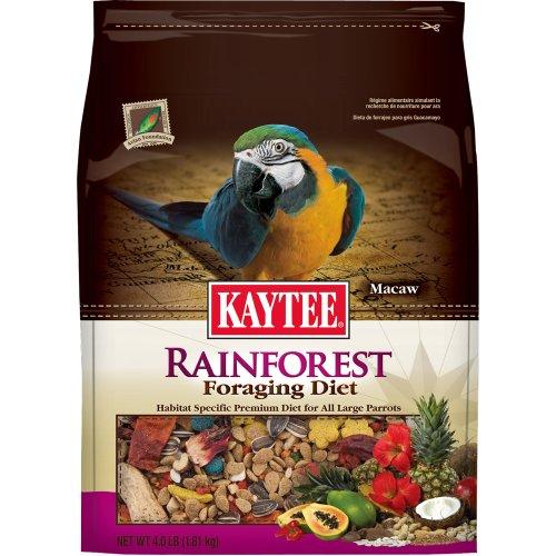 Kaytee Foraging Rainforest Macaw/Parrot Diet, 4-Pound, My Pet Supplies