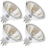 EIKO Q50MR16/CG/35/24, 50 Watt, MR16, Twist-Lock (GU5.3) Base Light Bulb (4 Bulbs)