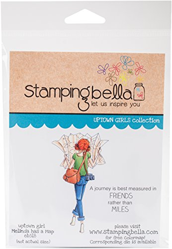 Stamping Bella EB518 Cling Melinda Has a Map by Stamping Bella