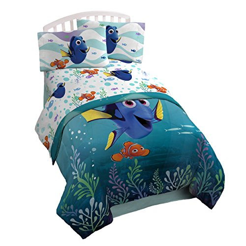 Disney/Pixar Finding Dory 'Sun Rays' 4 Piece Twin Bed In A Bag - Nemo Sheets Finding Disney