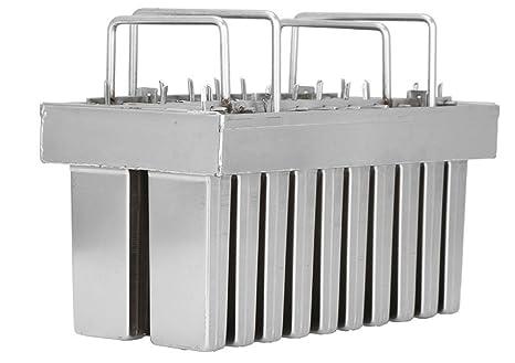 Amazon.com: 20 moldes de acero inoxidable para hacer paletas ...