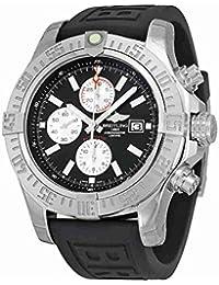 Men's BTA1337111-BC29BKPT3 Super Avenger II Analog Display Swiss Automatic Black Watch