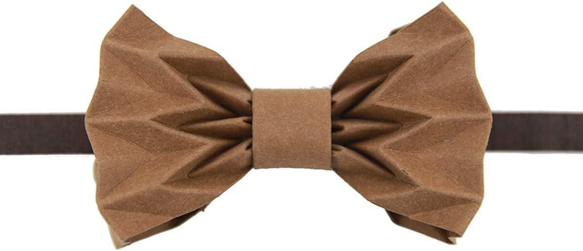 KUNQ-Creative Origami Papel Kraft Corbata Impermeable Lavable ...
