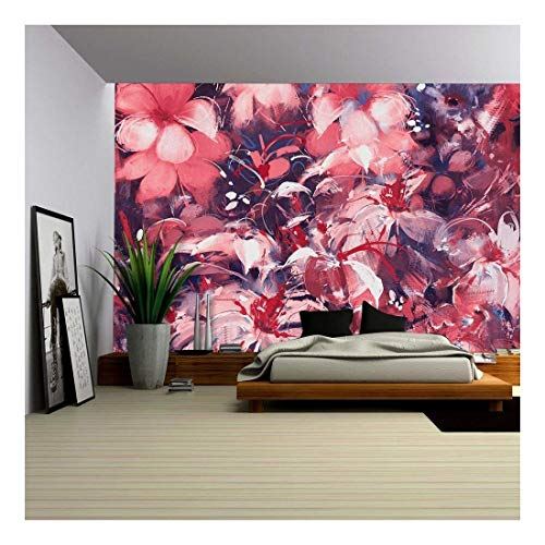 Seamless Abstract Flowers Oil Panting Style