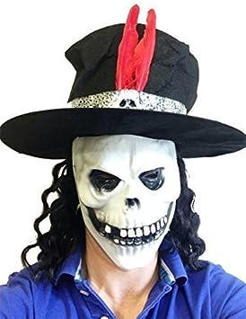 Slash Estilo Calavera Máscara De Látex con sombrero Guns Rosas ...
