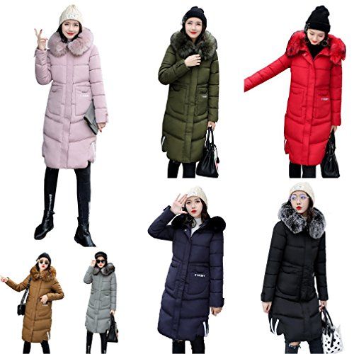 Cotone Giacca Cappuccio Donne Bigood Inverno Con Lungo Giù Di Scuro Cappotto Cappotto Caldo Grigio 6qwXHw8t