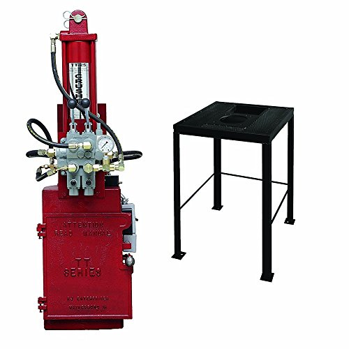 - BJE 007720 TT25 Electronic Over Hydraulic Oil Filter Crusher with no.7550 Crusher Stand with Reservoir