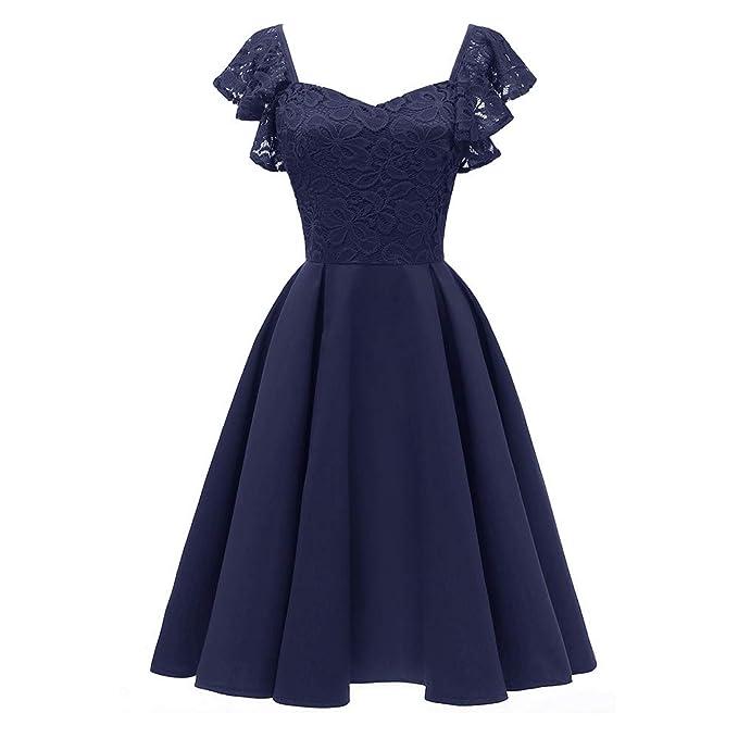 YANG-YI Women Chiffon Polka Dot Vintage Dress Stylish Spring Summer V Neck Short Sleeve Daily Skirts