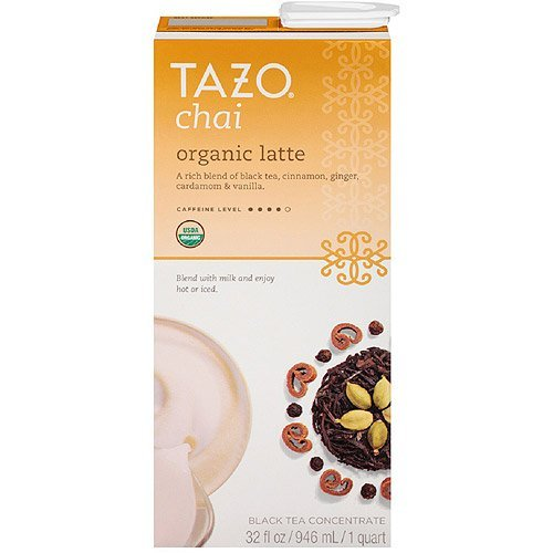 (Tazo Organic Chai, Spiced Black Tea Latte Concentrate, 32-Ounce Containers (Pack of 6))