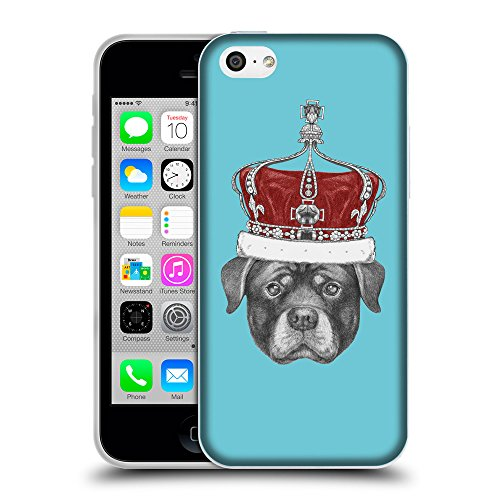 GoGoMobile Coque de Protection TPU Silicone Case pour // Q05450627 Rottweiler couronne Cyan // Apple iPhone 5C