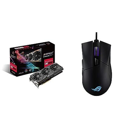 ASUS ROG-STRIX-RX580-T8G-GAMING Radeon RX 580 8GB GDDR5 - Tarjeta gráfica + Asus ROG Gladius II Origin - Ratón óptico optimizado para juegos