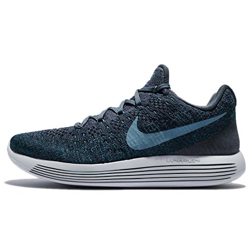 Nike Mens Lunarepic Low Flyknit 2, Blue Fox / Cerulean-college Marine, 12 M Us