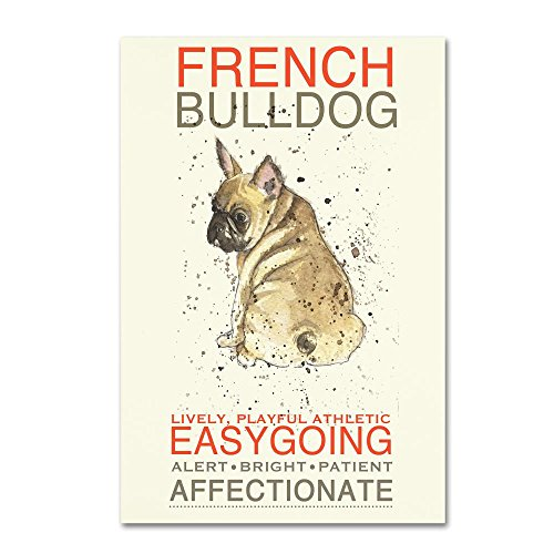 French Bulldog by Michelle Campbell, Canvas Wall Art