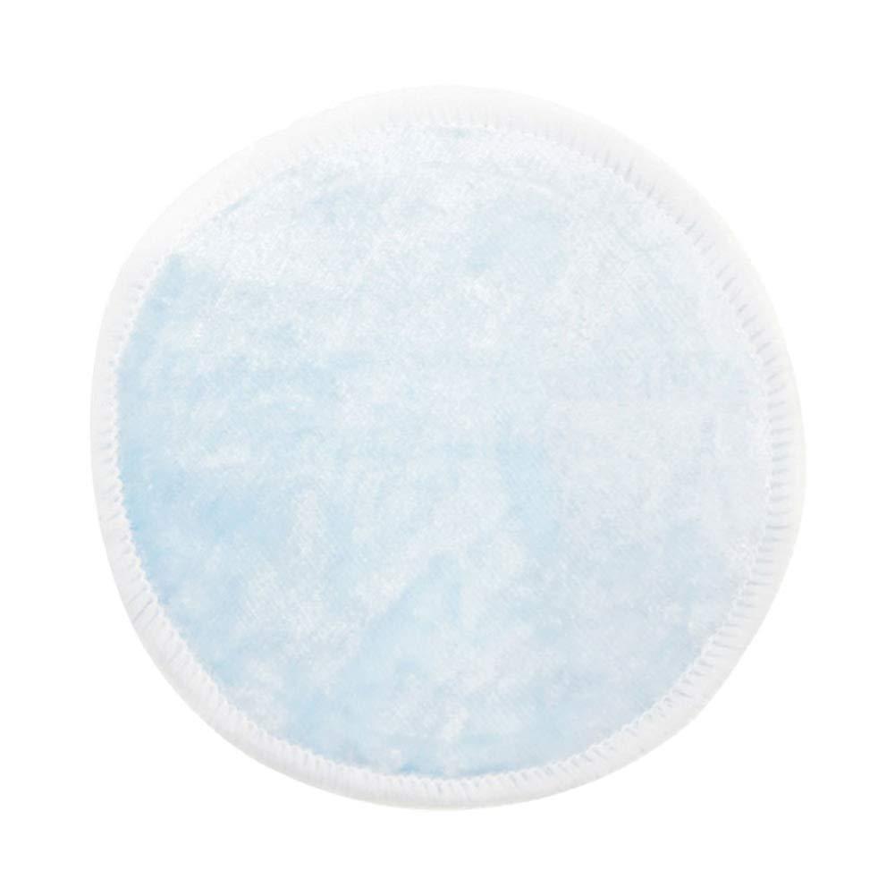 Hilai Tampons de dissolvant de maquillage coton bambou 20pack organiques tampons de d/émaquillant r/éutilisables lingettes rondes soins de la peau laver chiffons en microfibre ronds sac de voyage inclus