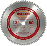 Oshlun SBNF-120080 12-Inch 80 Tooth TCG Saw Blade with 1-Inch Arbor for Aluminum and Non Ferrous Metals