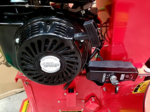 15HP 420CC Gas Powered Wood Chipper Shredder, 4'' Capacity, with Mulch Bag and Electric Start by MCP Samson Chipper (Image #5)