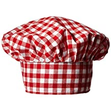 Beistle 60878 Gingham Fabric Chef's Hat