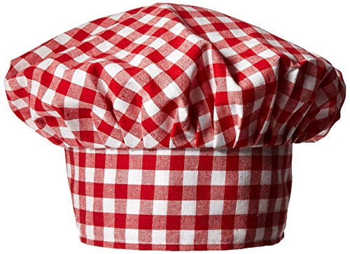 - Gingham Fabric Chef's Hat (red) Party Accessory  (1 count) (1/Pkg)