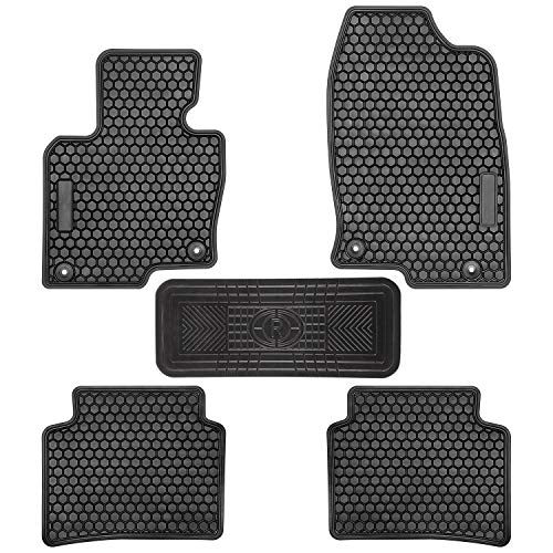 E-cowlboy Car Floor Mats for Mazda CX-5 CX5 2017 2018 2019 Heavy Duty Rubber Floor Liners Vehicle Carpet Custom Fit - All Weather Odorless (Black) (Best Mazda Car 2019)
